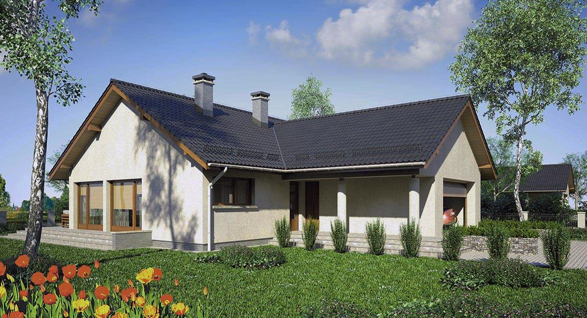 Г образный дом