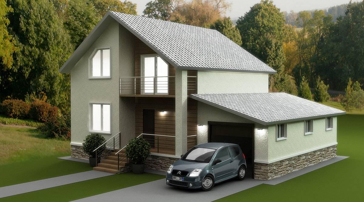 дом с гаражем